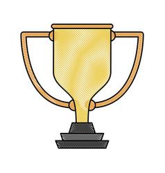Cup trophy symbol vector