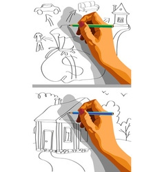 draw property vector image vector image