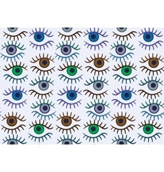 Eye silhouette seamless pattern vector image