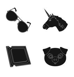 Eyelashes police and other web icon in black vector