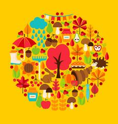 Fall season concept vector
