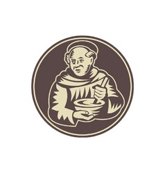 Friar monk cook vector