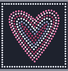 Graphic heart in dots vector