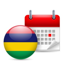 Icon of national day in mauritius vector