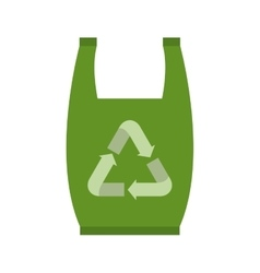 Isolated green recycle bag design vector