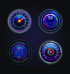 isolated speedometers or gauges for speed vector image vector image