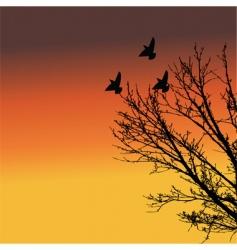 landscape at dusk vector image