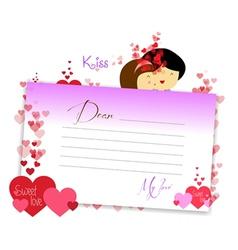 Letterhear for valentines purple vector