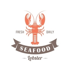 Lobster emblem vector