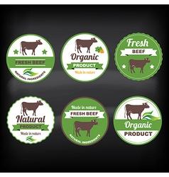 Meat labels vector
