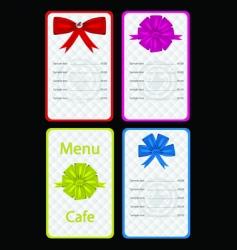 menu for cafe or restaurant vector image vector image