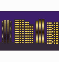 night city border vector image