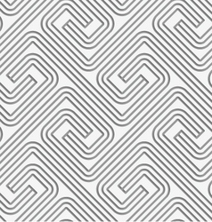 Perforated striped square spirals fastened vector