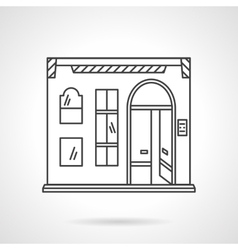 Pub facade flat line design icon vector