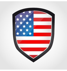 Shield with flag inside - united states - vector