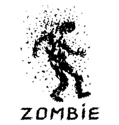 Shoot the zombies scary character vector