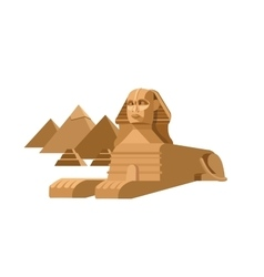 Sphinx and pyramids background travel vector