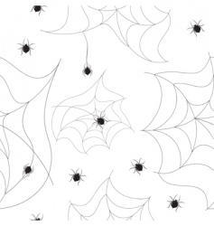 spider seamless background vector image