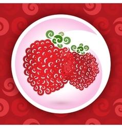 Swirly raspberry vector