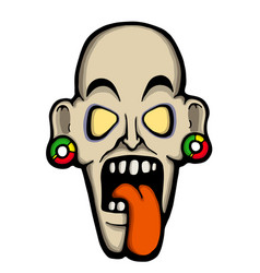 ugly zombie vector image