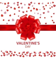 Valentines day beautiful background with ornaments vector