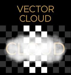White cloud cloud vector