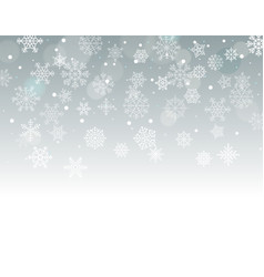 Winter background with snowflakes with blank the vector