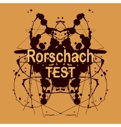 Rorschach ink blot design psychological vector