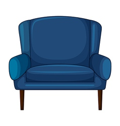 A blue cushion chair vector