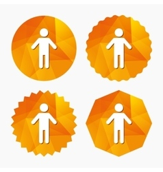 Human male sign icon person symbol vector