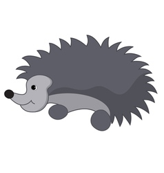 Gray hedgehog vector