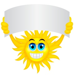 Sun with sign vector