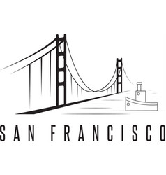 San francisco golden gate bridge design template vector