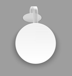realistic template blank white round advertising vector image