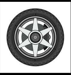 Car wheel with disc brake vector