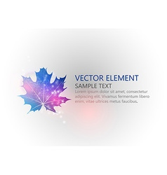 Background autumn single leaf text blue vector