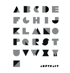 Abstract font from geometrical figures vector
