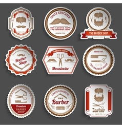 Barber shop stickers vector