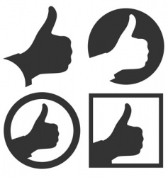 Thumbs up vector