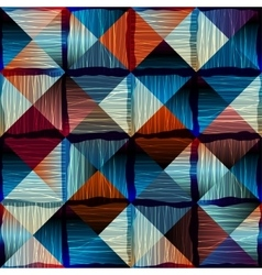 Abstract geometric pattern in patchwork style vector