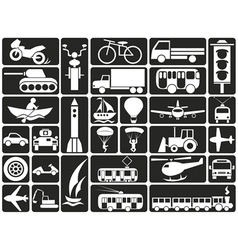 Modes of transport icons vector