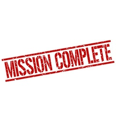 Mission complete stamp vector