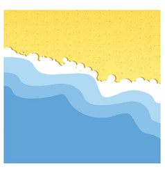 Background beach with sea and sand vector