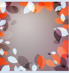background with red leaves vector image vector image