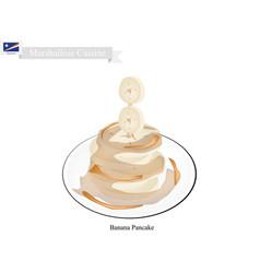 Banana pancake vector