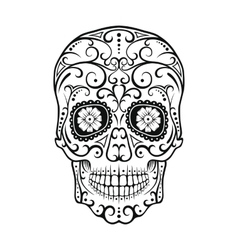 Black and white tattoo skull vector