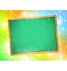 blackboard glow vector image vector image