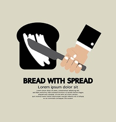 Bread with spread vector