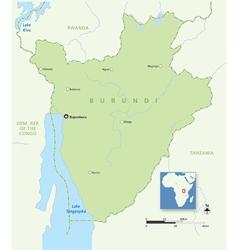 Burundi map vector