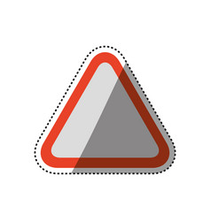 caution sign blank vector image vector image